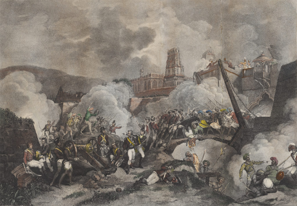 Collapse of the main gate of the fort of Srirangapatna