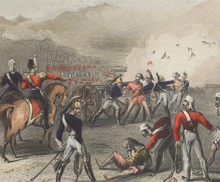 Blowing Mutinous Sepoys from the Guns - 1857 Uprising, Battles & Battlefields, Cannons, East Indian Company, Execution, Mutineers, Sepoys