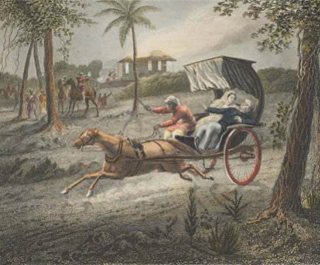 Dr Graham Shot In His Buggy - 1857 Uprising, Battles & Battlefields, Cavalry, Mutineers, Pakistan, Sepoys, Surgeon, Transport
