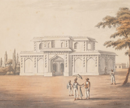 Music Gallery of The Mosque, Seringapatam -  Monument, 19th century, Costume, Dancers & Costumes, James Hunter, Military Artist, Seringapatnam, South India, Tipu Sultan, Worship