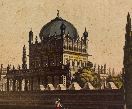 Sepulchre of Mussalman Dynasty near Mysore - Islamic Architecture, Monument, Imagining Mysore, Karnataka