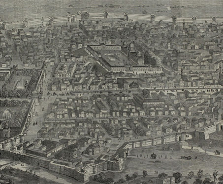The City of Delhi before the Seige - 1857 Uprising, Battles & Battlefields, Delhi, Fortification, Mughal India, Yamuna