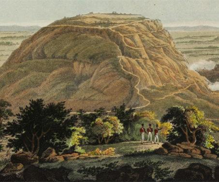 The Hill Fort of Nundydroog - Engraving, Fort, Imagining Mysore, Karnataka, Nandhi Hills, Temples & Forts