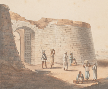 The South Entrance into the Fort of Bangalore (now Bengaluru) - Bangalore, Fort, Karnataka, South India, Temples & Forts