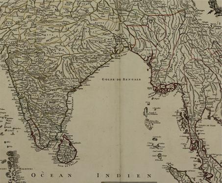 Les Indes Orientales - 18th century, Gilles Robert de Vaugondy, Sarmaya Stars