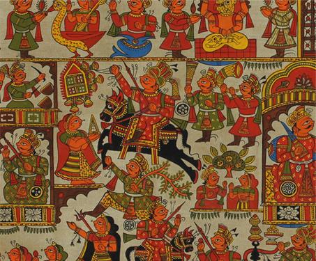 Phad: Pabuji ki Phad - Hinduism, Myths & Legends, Rajasthan, Shrilal Joshi, Tribal Art, Worship