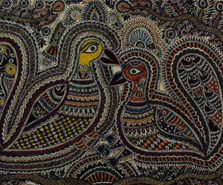 Mithila: Two Peacocks - Bihar, Birds, Madhubani, Peacocks, Poetry & Nature