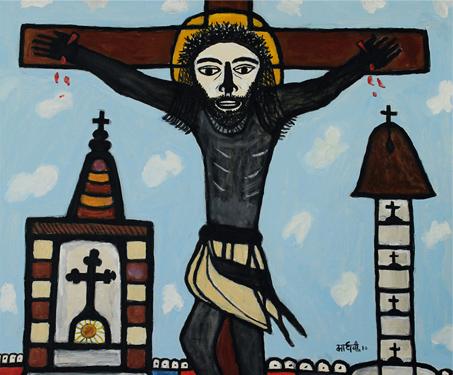 The Cross - Animals, Birds, Christian Art, Faith & Folklore, Figurative, Madhvi Parekh