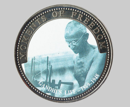 Liberia, Cupro-Nickel, 10 Dollar Proof - Liberia, Liberty, Mahatma Gandhi, Moments of Freedom, Palm Tree, Rebels & Revolutionaries