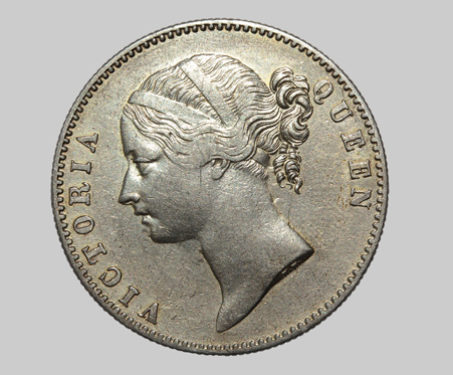 Queen Victoria, Silver, One Rupee - Durbars & Colonials