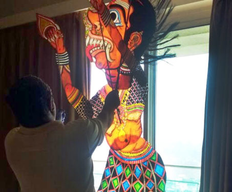 Shadow puppetry show by Chidambara Rao -