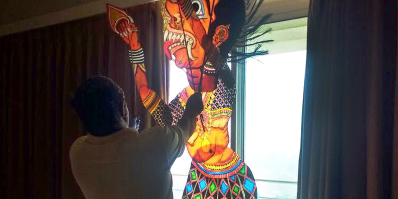 Shadow puppetry show by Chidambara Rao - Performances