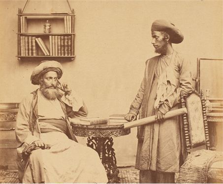 Bene Israel teachers in Bombay, 1856 - British India, Costume, Ethnography, Portrait, Travel, Vintage