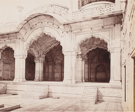 Delhi; The Pearl Mosque or the Moti Masjid - 17th century, Architecture, Aurangzeb, Bourne & Shepherd, British India, Capital, Gods & Goddesses, India & Ceylon, Marble