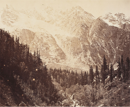 Himalaya; View of the Kullu Landscape - Bourne & Shepherd, British India, Glass negatives, Higher Himalayas, Himachal Pradesh, Mountain, Poetry & Nature, Travel, Vintage