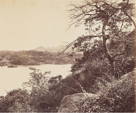 Mount Abu; View of the Nukhi Talao (now Nakki Talav) - Artificial lake, British India, Hill-station, Lake, Landscape, Poetry & Nature, Rajasthan, Travel, Vintage