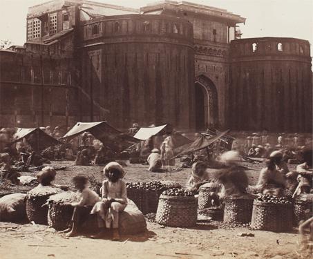 Poona (now Pune), The Joona Warra - 18th century, British India, Fortification, Landscape, Maharashtra, Peshwas, Shaniwar Wada, Temples & Forts, Tourism
