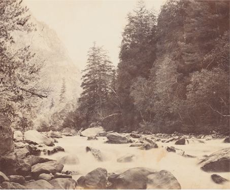 View of the Cascading Waters of the Scinde Valley - Bourne & Shepherd, British India, Glass negatives, Kashmir, Landscape, Poetry & Nature, River, Travel, Valley