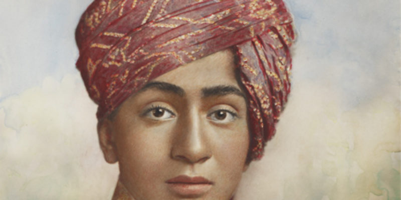 Prince of Morvi, painted photograph - Sarmaya Stars