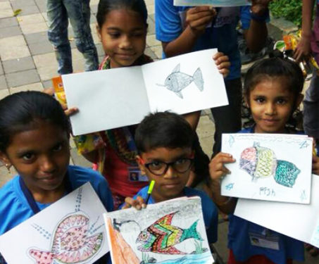 Gond workshop for street children - For schools