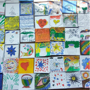 Madhubani art at a children's home - For schools