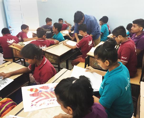 Tribal art workshop - For schools
