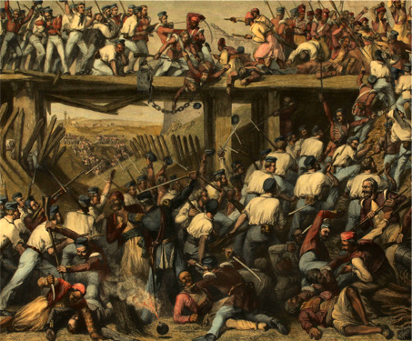 The Storming Of Delhi - 1857 Uprising, Delhi, Mughal, Rebels & Revolutionaries, Sarmaya Stars