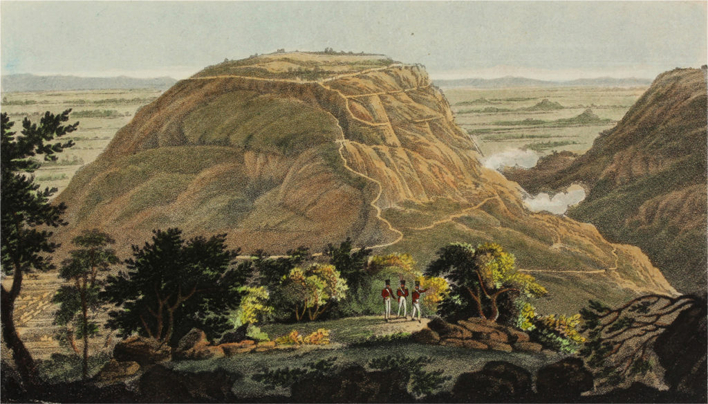 Engraving of the Hill Fort of Nundydroog