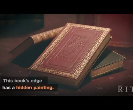 Watch: Books with fore-edge painting -