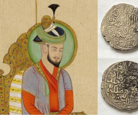 Mughal coins by Babur