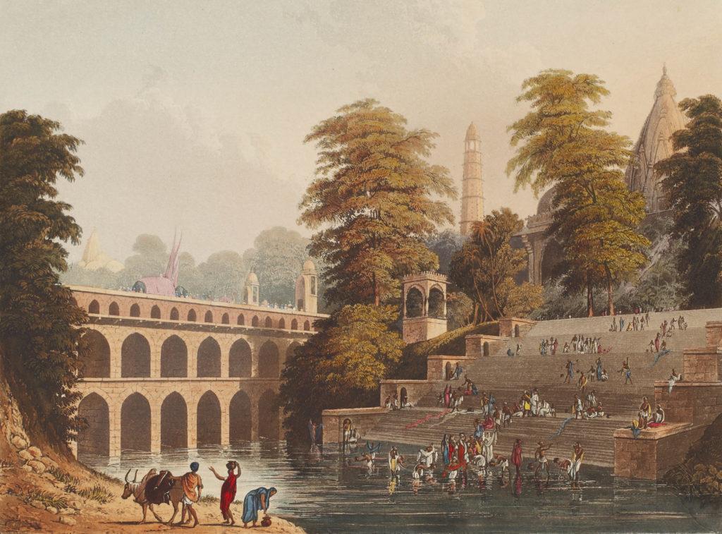 Banker, soldier, artist, lover - aquatint engraving, Landscapes, Robert Melville Grindlay, Travel