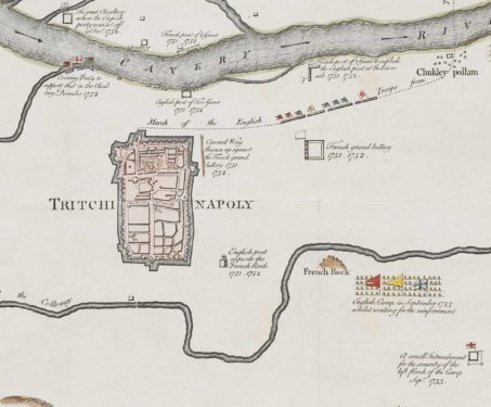 A Plan of The Country Near Tritchinapoly - 18th century, Print on paper, Sarmaya Stars, Thomas Kitchin