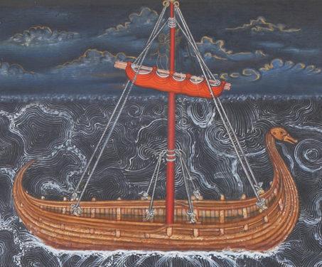 Calming the Storm (triptych) - Christ, Christian Art, Collaboration, Contemporary Art, Hamzanama, Issanama, Manish Soni, Miniature Painting, Mughal Art, Sarmaya Stars