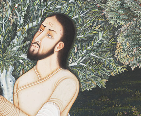 Prayer at Gethsemane - Christ, Christian Art, Collaboration, Contemporary Art, Hamzanama, Issanama, Manish Soni, Miniature Painting, Mughal Art, Sarmaya Stars