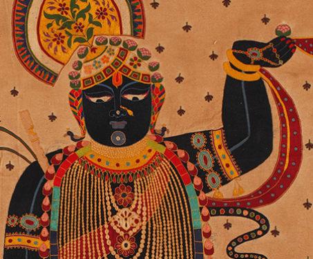 Pichwai: Shrinathji - Lord Krishna, Pichwai, Rajasthan, Shrinathji