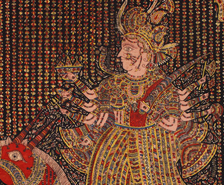 Mata-ni-Pachedi: Vahanvati Mata - Gods & Goddesses, Gujarat, Mata ni Pachedi, Mother Goddess, Sanjay Chitara