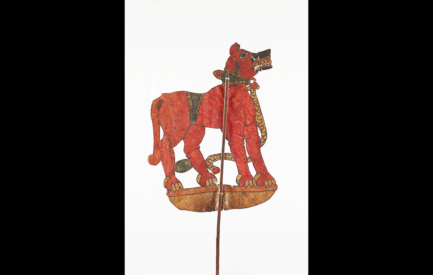 Tholu Bommalaata puppet of a Dog-Lion Hybrid