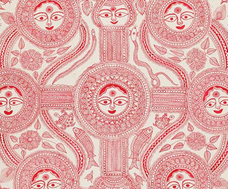 Kohbar - Bihar, Dulari Devi, Kohbar, Madhubani, Mithila art, Ritual painting