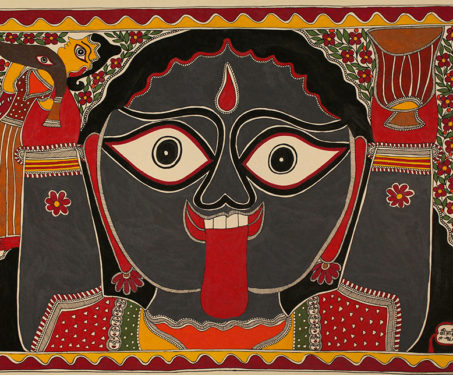 Madhubani art or Mithila paintings of the Goddess Kali
