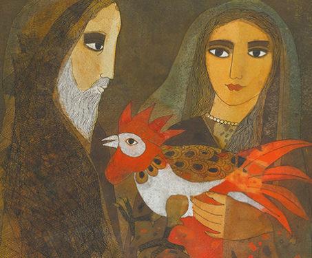Kukkuta Jataka - Badri Narayan, Birds, Buddhist, Storytelling traditions