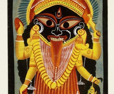 Kalighat painting of Kali