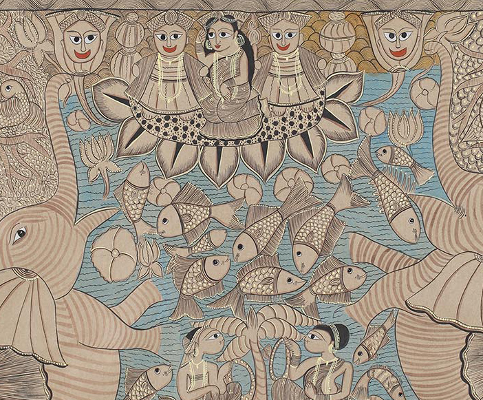 To the earth we return - Anju Acharya, Dhruvi Acharya, featured, Laltu Chitrakar, Mayank Shyam, Rithika Merchant, Shakuntala Kulkarni, Shifting Selves