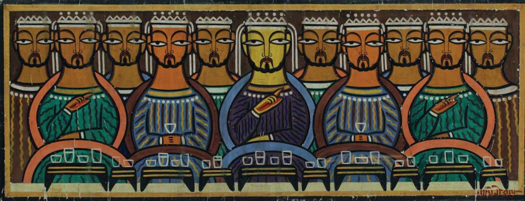 Jamini Roy painting of the last supper