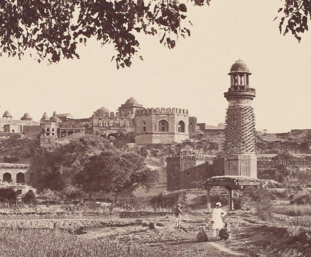 Futtypore Sikri - General view of the ruins (west side) from the foot of the hill - Agra, Akbar, Albumen silver print, Bourne & Shepherd, Fatehpur Sikri, Mughal