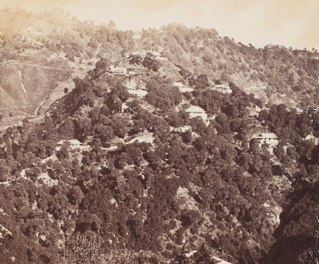 General hill view, Landour - 19th Century Photography, British India, Hill-station, Uttarakhand
