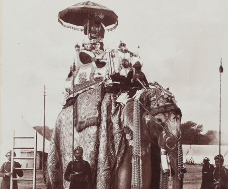 Lord and Lady Curzon atop the elephant Lakshman Prasad, 29 December 1902 - Delhi Durbar, Elephants, Indian Royalty, Magnificent Beasts