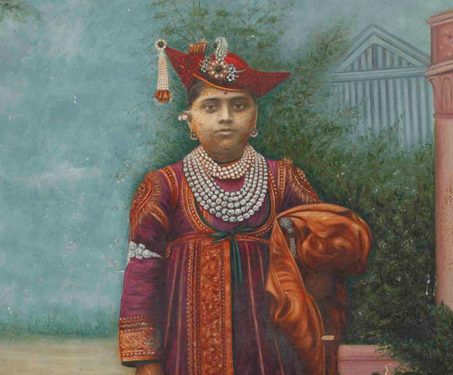 Painted Photograph of Highness Maharaja George Jivaji Rao Scindia of Gwalior - Gwalior, Indian Royalty, Kings & Countrymen, Painted photography