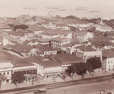 Panoramic view of Fort, Bombay - Bombay, Bombay Presidency, Mumbai