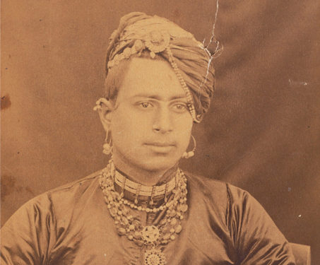 Portrait of a Mewar Noble - Albumen print, Kings & Countrymen, Mewar, Portraits, Rajasthan, Royalty