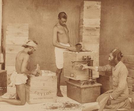 Tea Factory - Albumen print, Sri Lanka, WLH Skeen